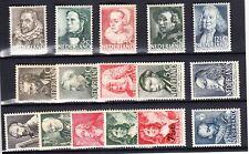 Nederland de Zomerzegels van 1938/39/40, alles met de volle originele gom