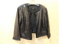 Ann Taylor LOFT Black Sequin Crop Shrug ______________________R16A2