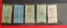 35 USED RAILWAY TICKETS FROM c.1970-1990's SHEFFIELD,CROSMOUNT,BLUEBELL +