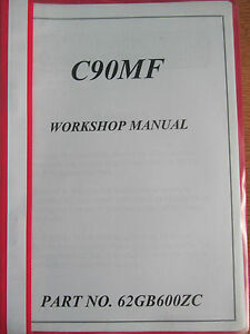 HONDA C90MF DEALER ONLY SHOP MANUAL NEVER AVAILABLE TO THE GENERAL PUBLIC