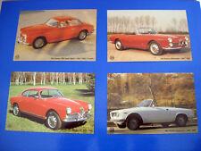 N.4 Cartoline AutoStyle 93 Alfa Romeo 1900 2600 Spider 1300 Sprint Giulia GTC