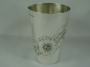 PRETTY VICTORIAN silver BEAKER, 1899, 98gm