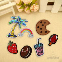 7Pcs Embroidery Sew On Iron On Biscuit Patch Badge Bag Clothes Fabric Applique