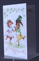 St.Patrick's Day Greeting card  Dachshund Doxie ,Limited ed. Inga Izmaylova SmG