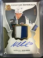 2016-17 The Cup Nikolaj Ehlers Signature Materials Auto 3 Color Patch /99