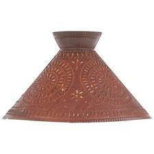 Primitive new distressed rusty punched tin design lamp shade /finial shade
