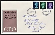 GB 1967 GPO FIRST DAY COVER BRITISH DEFINITIVE ISSUES SG729,740,743