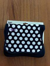 """BUILT Neoprene E-Reader/Tablet Envelope 9-10"""" Purple Polka Dot NEW"""