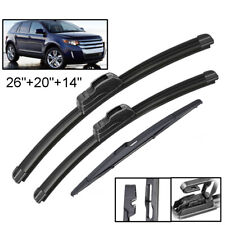 26''+20''+14'' XUKEY Wiper Blades Front Rear Set For Ford Edge MK1 2007 - 2014
