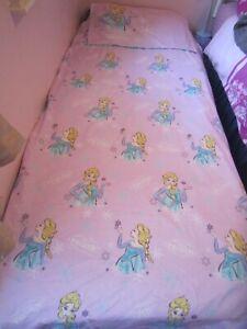 VGC Girl Disney Frozen Elsa Duvet Cover Set  Reversible Single bed Bedding