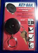 KEY BAK  MODEL#3B -  BLACK Key Ring Caddy  Retractor  SLIP-ON