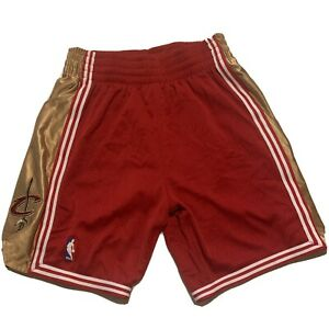 Cleveland Cavaliers NBA Mitchell & Ness Red 2003-04 Throwback Away Shorts LeBron