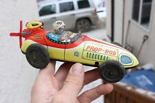 Vintage Old Tin Friction Toy Land Speed Race Car PROP ROD Japan 1950s MS FINE