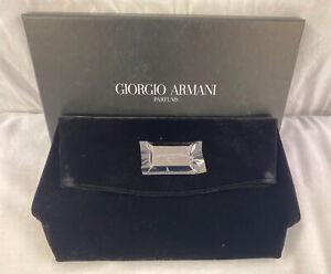 Giorgio Armani Parfums Ladies Black Evening Clutch Bag - BRAND NEW IN BOX