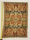 "Vintage Silk Tapestry 23""x16"" Beautiful Floral Pattern"