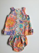 Lilly Pulitzer Shift Dress & Bloomers 6-12M Written in the Sun Holy Grail Print