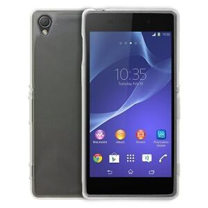 Sony Xperia Z3 Handy Hülle Klar Silikon Bumper Case durchsichtig Schutz TPU