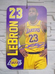 Lebron James Los Angeles Lakers NBA Basketball Plastic Sign 16 1/2in