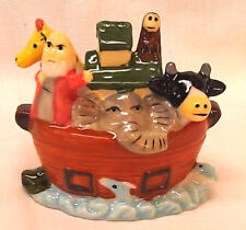 Porcelain Noah's Ark, Collectible, Gel Candle Embed, Animals