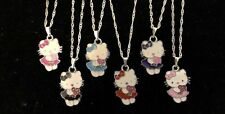 Hello Kitty Holding Flowers Childs Necklace 6 Colours!!!!