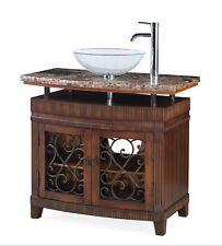 "36"" Benton Collection Attractive Artturi Vessel Sink Bathroom Vanity # Q226Bn"