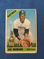 1966 TOPPS #195 JOE MORGAN Astros 2ND Year Card HoF 2nd Baseman Big Red Machine