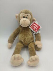 "Gund MONKEY Chimp My Name is Pee Wee Tan Brown 2627 Plush Stuffed Animal 11"""