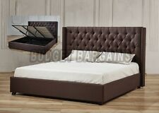 Unbranded Solid Wood Brown Beds & Mattresses