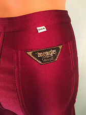 Disco Spandex Pants Dark Red Wine Bojeangles Jeans