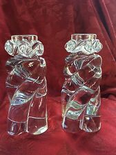 """FLAWLESS Exceptional Pair BACCARAT Crystal """"Aladin"""" CANDLESTICK CANDLE HOLDERS"""