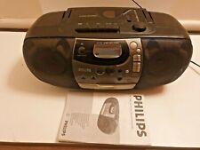 Vintage Philips AZ 1302 BOOMBOX CD player ghetto blaster cassette recorder