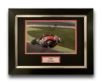 JORGE LORENZO HAND SIGNED FRAMED PHOTO DISPLAY - DUCATI MOTOGP AUTOGRAPH.