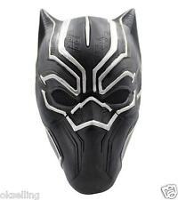 adult latex Marvel BLACK PANTHER Captain America Civil War Mask helmet halloween