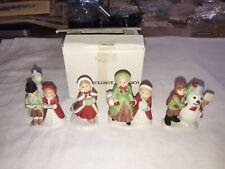 Homco 5310 Pleasant Hill Mother Daughter Skating Snowman Caroler Lot of 4