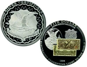 1896 $5 PRESENTING LIGHT BANKNOTE COMMEMORATIVE COIN PROOF VALUE $99.95