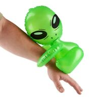 """(12) HUG-ME ALIEN 12"""" INFLATABLE BLOW UP INFLATE - UFO Space Child Toy (1 dz)"""