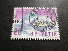 SUISSE 1962, timbre 691, TRAIN, GARE JUNGFRAUJOCH, oblitéré, used
