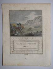Francois Premier 1515 Roi EAU FORTE SERGENT MIXELLE Gravure Aquatinte 1790
