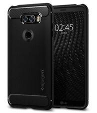 LG V30 Case, Spigen Rugged Armor Cover Case - Black