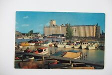 Vintage 1967 East Basin DOCKS BOATS ERIE Pennsylvania RPPC Real Photo Postcard