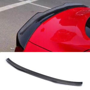Rear Trunk Spoiler Wing For Ford Mustang Coupe 2015-2017 Carbon Fiber Factory