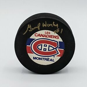 GUMP WORSLEY Montreal Canadiens Autographed/Signed Puck