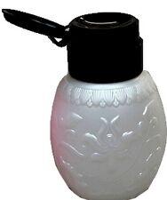 Pump Dispender weiß mit schwarzen Deckel.250ml Inhalt Pumpflasche  Spender