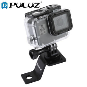 PULUZ Aluminum Alloy Motorcycle Fixed Holder with Tripod Adapter&Screw for GoPro
