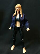 SU-JKS-ML: 1/12 Blue Zipper Jacket for Marvel Legends Female body (No Figure)
