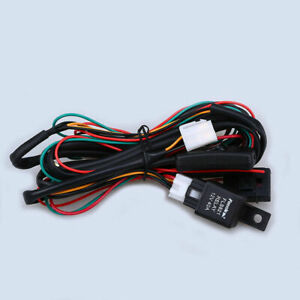 LED Work Fog Light Bar Wiring Harness Relay Durable Stable Kit ON/OFF Switch