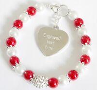 Auntie Aunt of Bride/Groom Wedding Bracelet Personalised Engraved Charm Gift