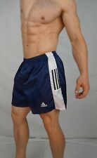 RARE! Adidas Satin Nylon Soccer Shorts NAVY BLUE (GREAT CONDITION) MEDIUM MED