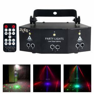 6 Eyes RGB Laser Mixed LED PAR Lamp Remote DMX Beam Show KTV DJ Stage Lighting
