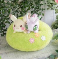 Ichiban Kuji Pokemon 2020 Last One Prize Pikachu & Celebi Cushion Plush Toy 30cm